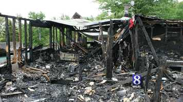 The fire destroyed the East Coast Exotic Animal Rescue near Fairfield on Saturday.