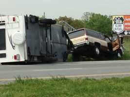 The accident happened in the eastbound lanes near Prospect Road in West Hempfield Township.