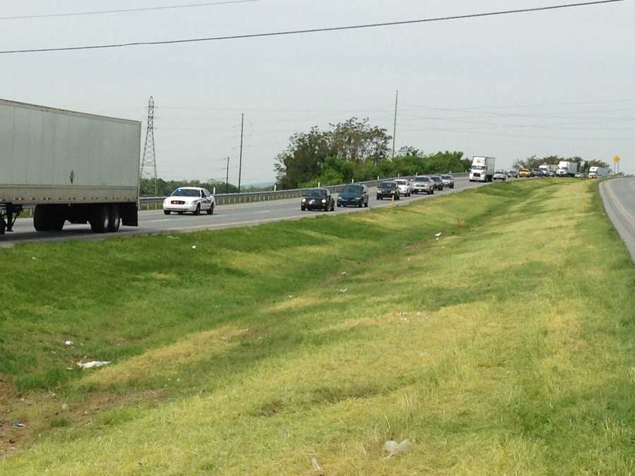 The crash is causing backups in the area.