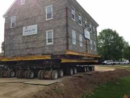 It's moving day for an entire house in Lancaster County.