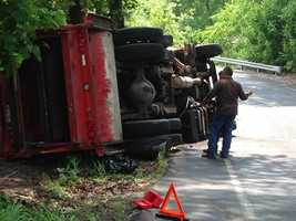 The crash happened around 10:15 a.m. on the 3600 block of Elizabethtown Road.