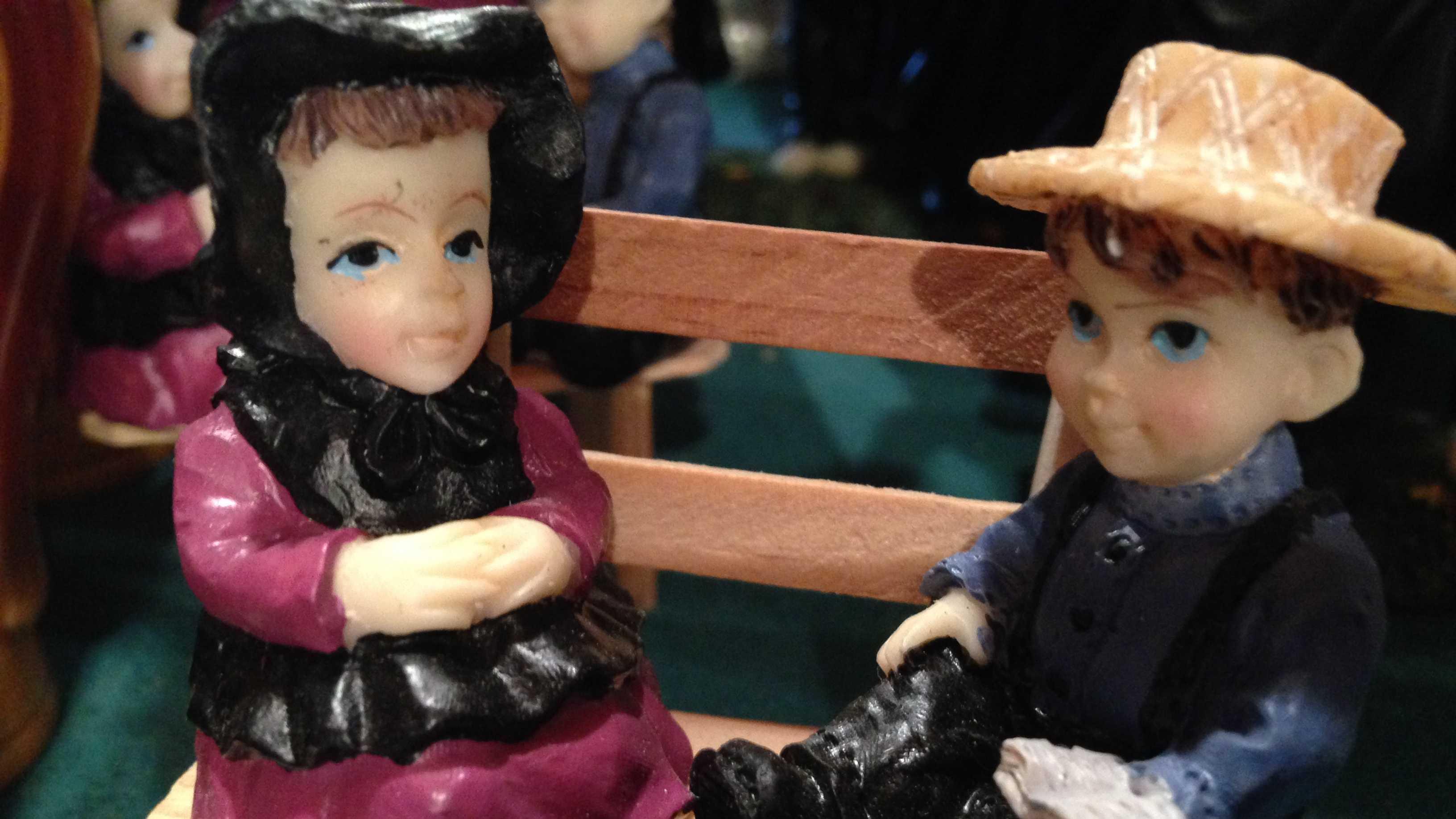Amish figurines.