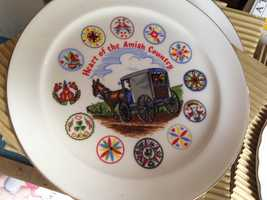 """Keepsakes like this """"Heart of the Amish Country"""" plate can be found at local shops."""