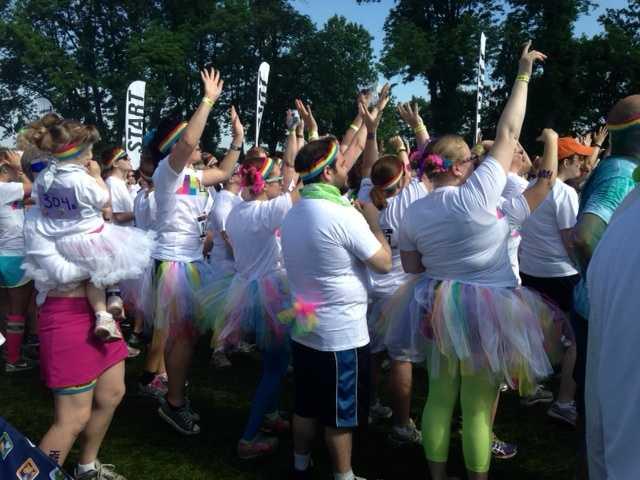 The Color Run is a five-kilometer, un-timed race.