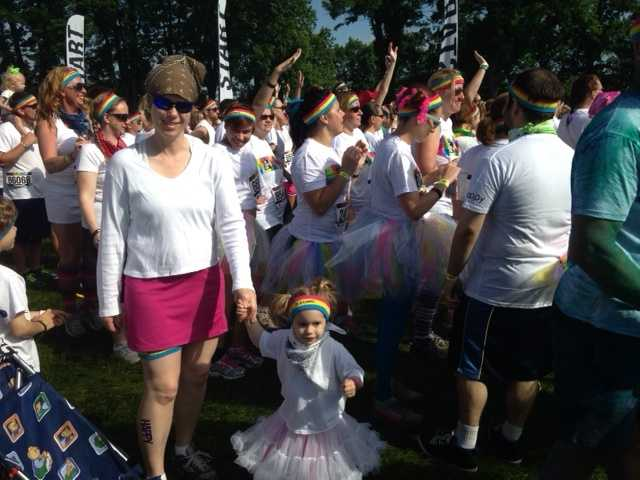 Many participants donned tutus.