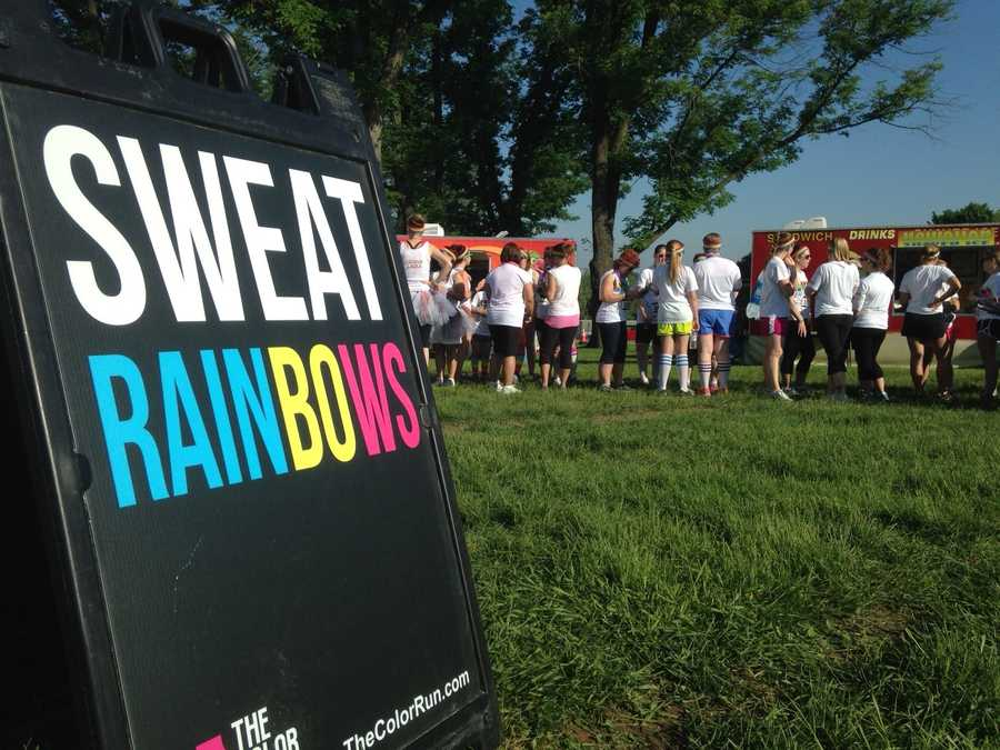 "Runners gathered in Hershey, Pa. over the weekend to run the ""Happiest 5k on the Planet"" a.k.a. The Color Run."