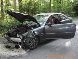 The crash happened at 4:39 p.m. at the intersection of Butler Road and Old Mine Road in West Cornwall Township.