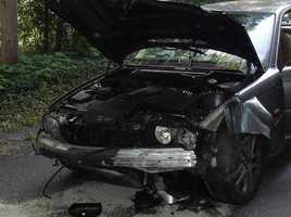Lawrence A. Witmer Jr., 44, of Myerstown, was traveling north on Butler Road in a 2011 Ford Escape when 2003 BMW 330i, traveling east on Old Mine Road, ran the stop sign at the intersection causing a collision. Witmer's vehicle completely rolled over, coming to rest on its wheels. He was transported to Good Samaritan Hospital by First Aid & Safety Patrol EMS, according to police.