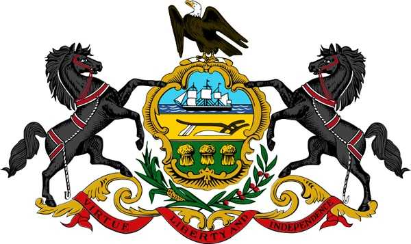 Pennsylvania's Coat of Arms appears on documents, letterheads and publications, and forms the design on the state flag.