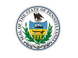 State seal: The symbol that is used by the commonwealth to authenticate certain documents. (Designated by the General Assembly in 1791.)