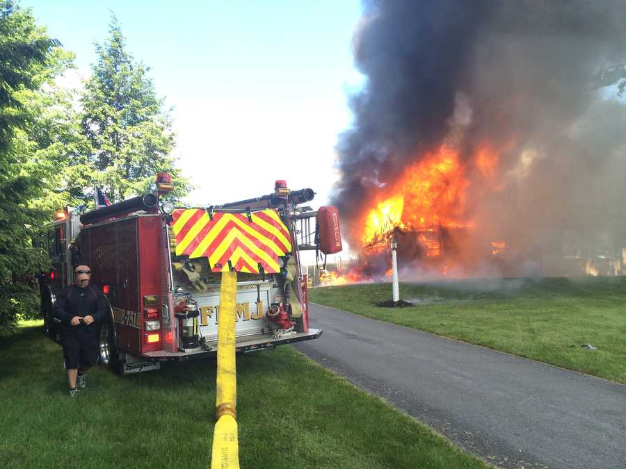 The fire spread to other portions of the home.
