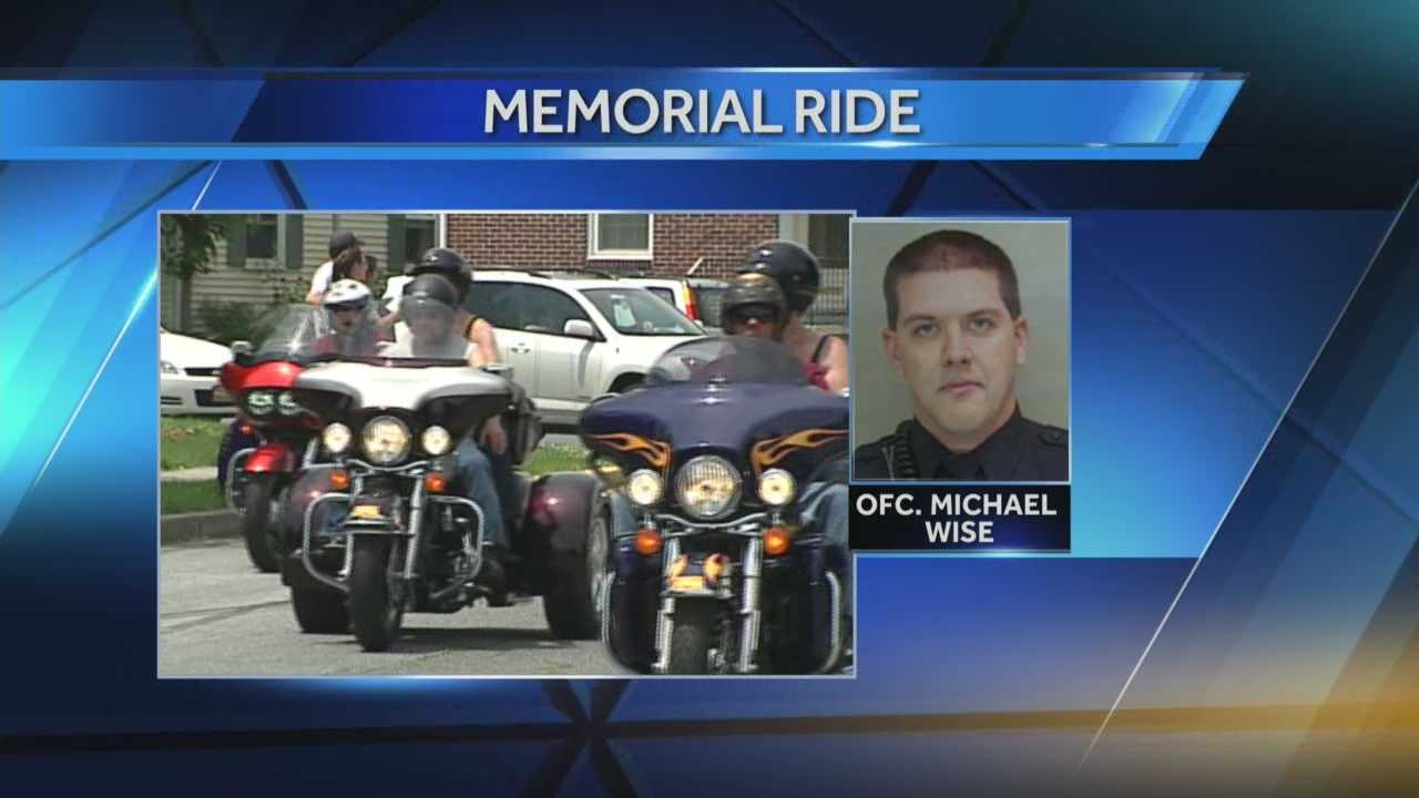 News 8 Today Riders remember slain officer Michael Wise