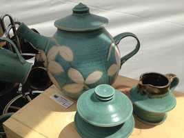 Artist Ken Beidler showcased his ceramic work at MAKERSfest.