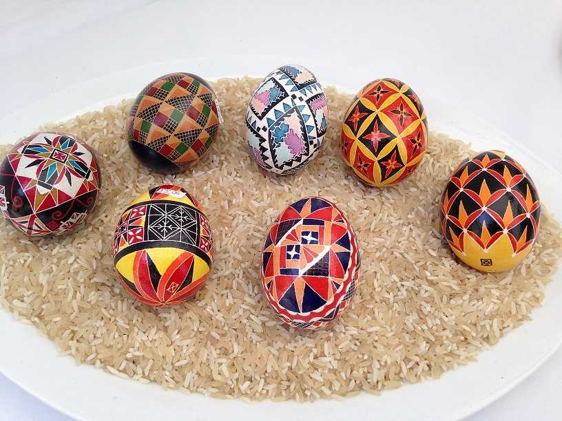 Pysanky eggs, a Ukrainian tradition, were also on display at the fair. Creator Nick Zdinak, who is based out of Shamokin, Pa., says he's been making eggs since he was a kid.