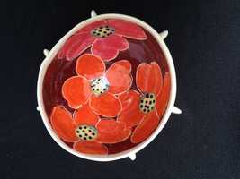 Artist Jerry L. Bennett hand-crafts ceramics.