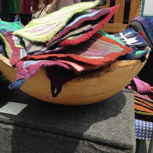 Alice Pickett Lewis displayed her fiber art at MAKERSfest.