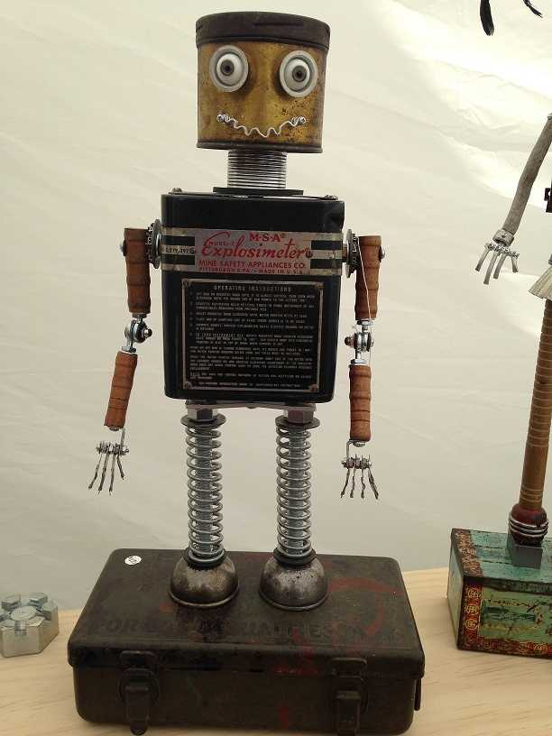 The artist admits it's not always easy to put his robots up for sale.