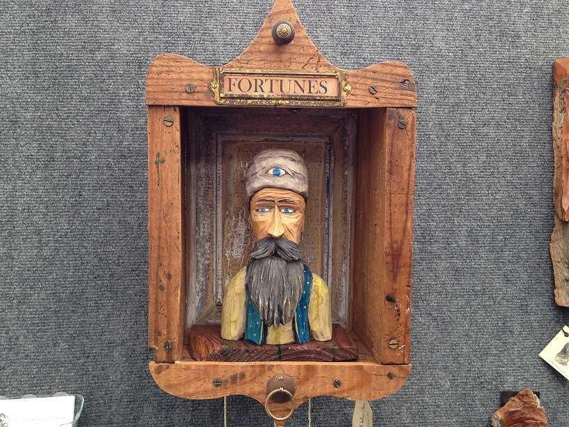 A fortune teller piece by M.D. Bair.