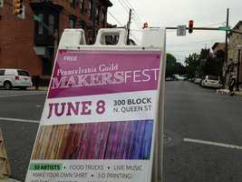 A myriad of tents featuring handcrafted jewelry, pottery, blankets and wall-hangings were on display at the MAKERSfest street fair on Sunday in Lancaster City.