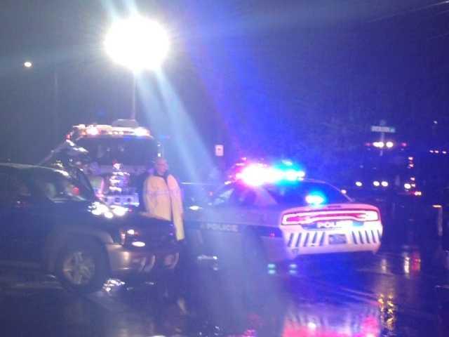 The crash happened around 11 p.m. Wednesday near Overlook Drive.