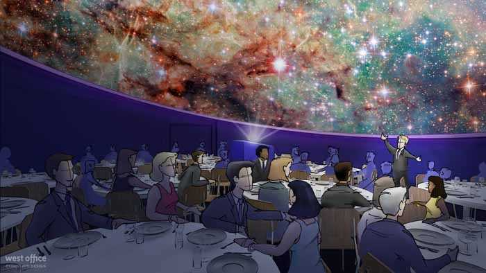 A focal point on the new museum will be a new, state-of-the-art planetarium.