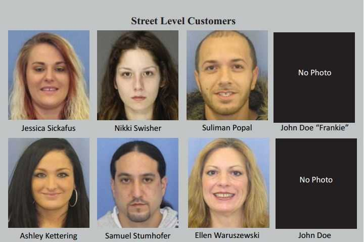 This and the following slides picture street-level customers, according to authorities.