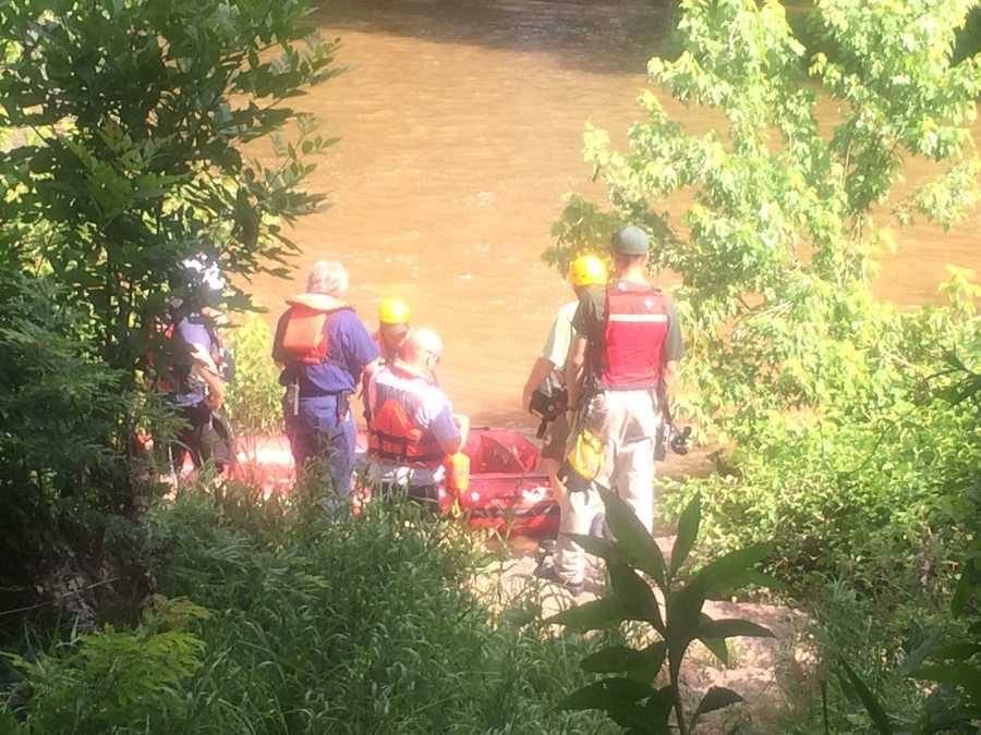 A rescue team is searching for a missing person in the Conewago Creek in Washington Township, York County.