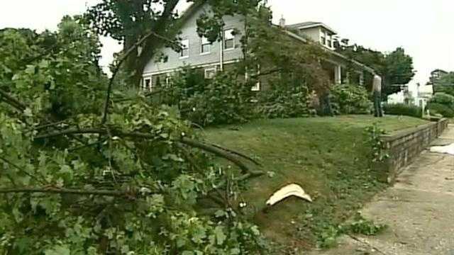 Storm damage in Manheim, Lancaster County.