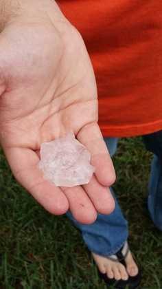 Hail found in Lebanon County.