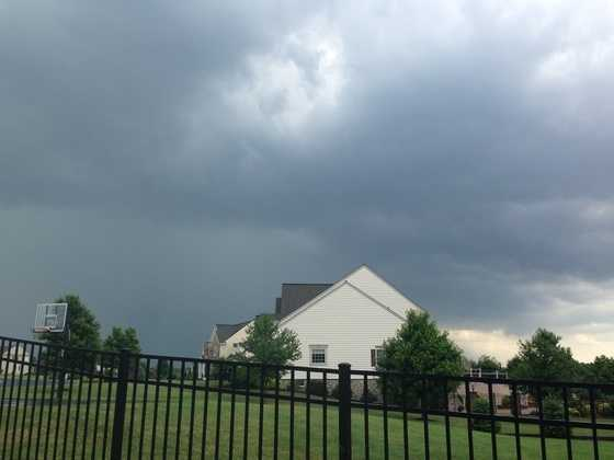 The storm over a home in the Susquehanna Valley.