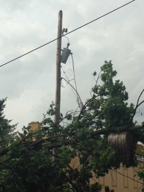 Some wires are down in Manheim.
