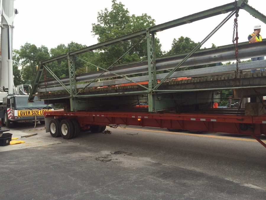 A historic, old bridge is being transported to a new home in Northern York County.