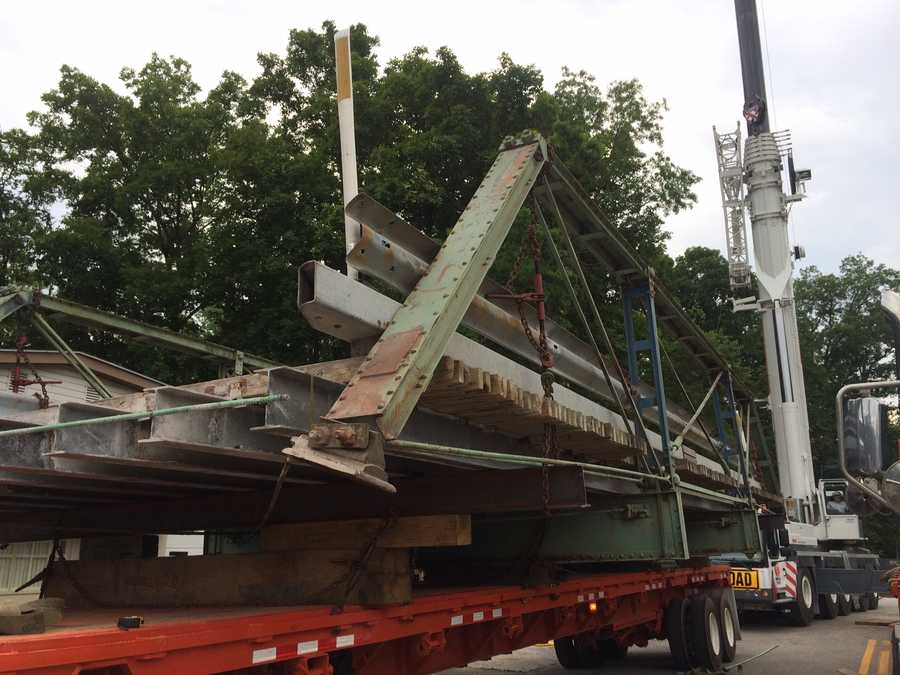 Now, the seven ton, 14.5-foot wide bridge is being moved to Dover Township where it will be re-purposed as a pedestrian, lightweight vehicle bridge.