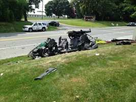 Court documents show that Gallagher was speeding and swerving at the time of the crash.