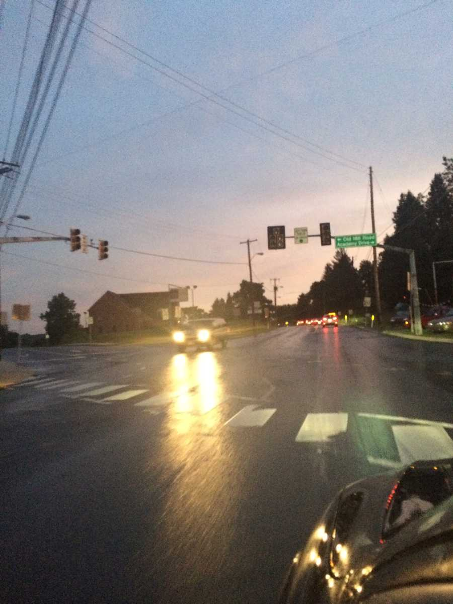 Tuesday evening, intersection on 272 in Ephrata with no signal lights after blinding rain and strong winds.