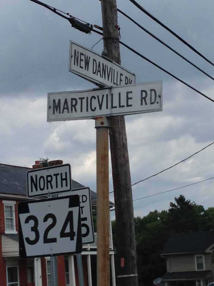 New Danville Pike at Marticville Road, Lancaster County, Wednesday afternoon.