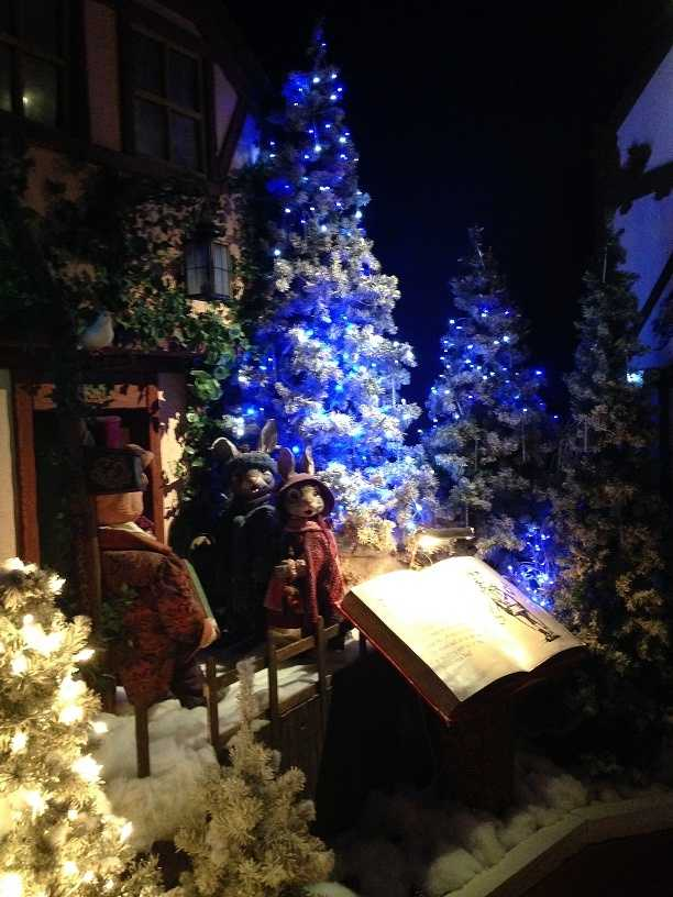 """One exhibit features the Christmas storybook """"Meggie and Jestifer Rabbit"""" and brings """"TudorTowne"""" to life."""
