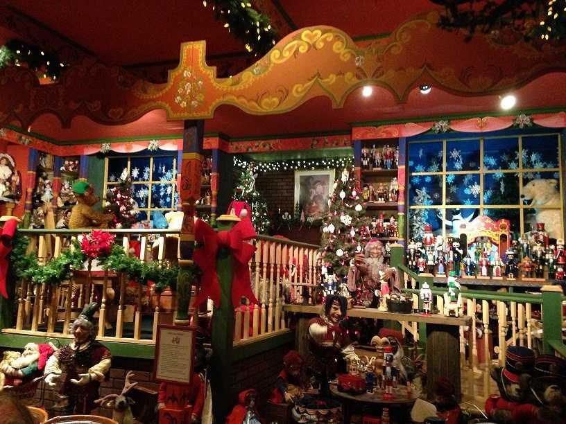 """One room is designated as """"Santa's Workshop."""""""