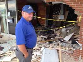 "News 8 spoke to Rob Lauver, owner of Peaceful Pet Passage, who was surveying the damage at his business on Monday morning. ""I can't imagine he was going less than 50 or 60 miles an hour, if not more. To go through a cinder block wall, and brick and destroy two walls inside before he stopped and pushed the cooler all the way to the back -- out through door, in the back of the building,"" Lauver said."