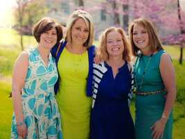 Kim shared this photo of herself with friends Nancy Tulli, WGAL General Sales Manager, Cara Fry, Senior VP at WITF and Lori Burkholder, WGAL Anchor/Reporter.