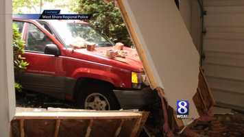A driver crashed into a home in Lemoyne, Cumberland County, Tuesday morning.