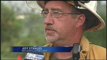 """""""On my arrival, she was totally buried. Once she knew we were there, she kind of calmed down and things,"""" said Brickerville Fire Chief Jeff Strauss."""