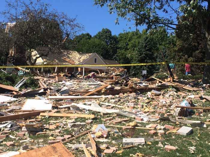 Nothing is left of a York County home after a propane explosion Thursday morning.