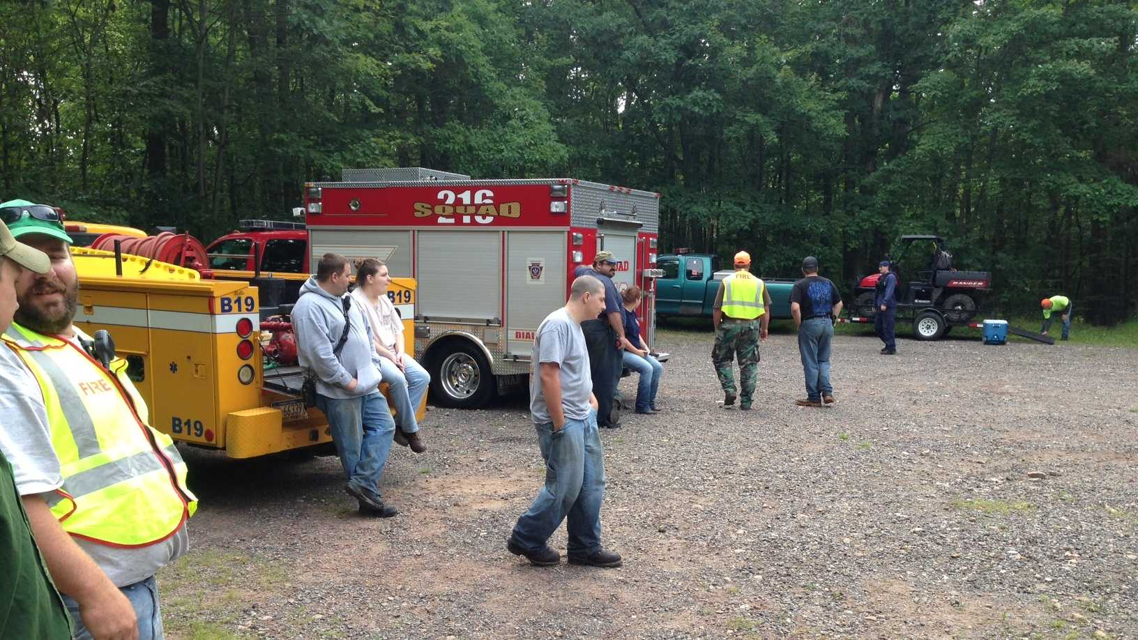 A search party found the missing hiker Monday morning.