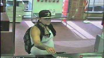 Police said surveillance cameras captured images of the man as he robbed the Santander Bank on East King Street.