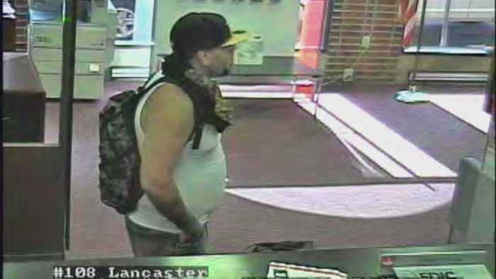 Police said the robber entered the bank around 4:30 p.m., gave the teller a note and left with money.