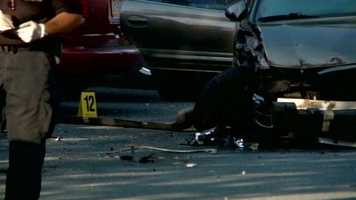 A man driving down a Harrisburg street was shot and killed early Tuesday morning.
