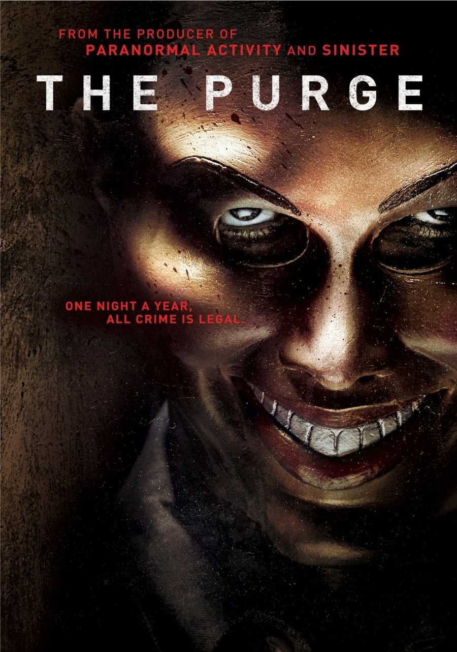 """The following 10 slides feature the """"Top 10 DVD's"""" that have been checked out in 2014 from the library. 1. The Purge"""