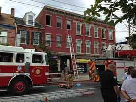 There were two fires in Lancaster Wednesday morning.