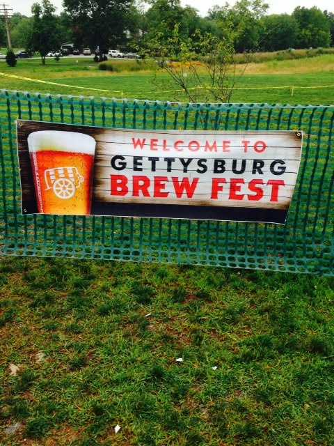 The first Gettysburg Brew Fest sounded off with a blast of a cannon on Saturday on the Gettysburg battlefield at Seminary Ridge.